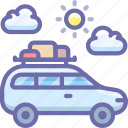 camping, car, travel icon