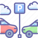 car, parking, transport icon