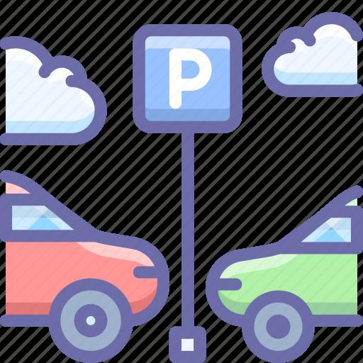 car, parking, transport icon