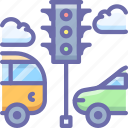 bus, car, light, traffic, transport icon