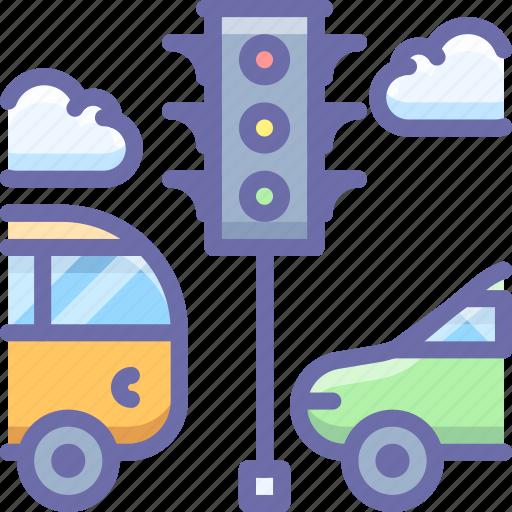 bus, car, light, traffic, transport icon