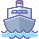 boat, cruise, ship, transport icon