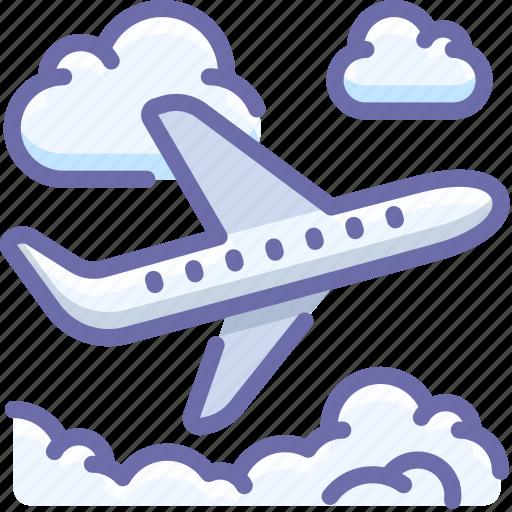 flight, plane, sky, takeoff icon