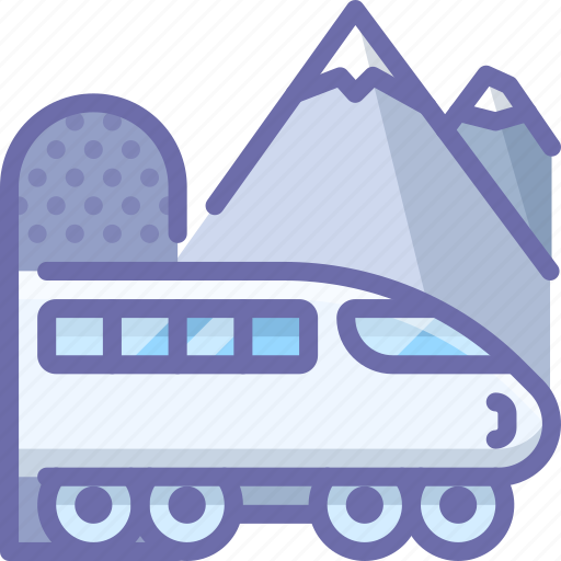 Tunnel, train, transport icon