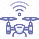 airdrone, drone, signal icon