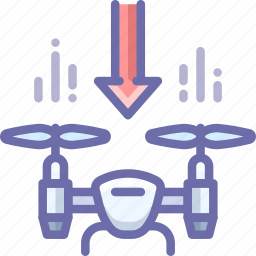 down, drone, lower icon