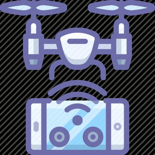 control, drone, quadcopter, remote icon