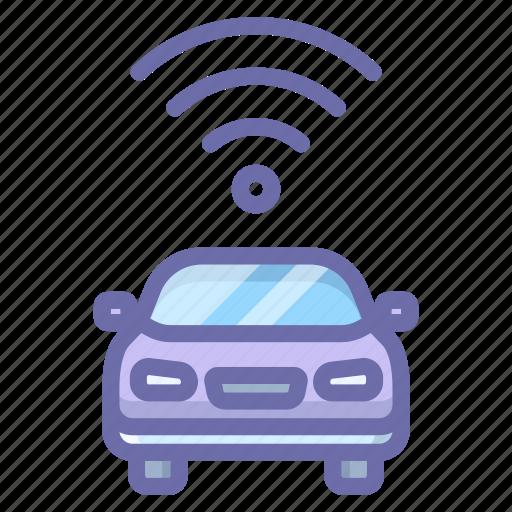 car, signal, transport icon