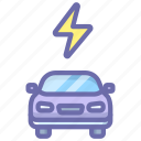 car, charge, electric, power icon