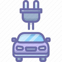 car, charge, electric icon