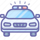 car, emergency, police icon