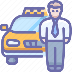 car, driver, taxi, transport icon