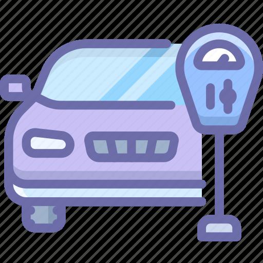 car, machine, parking icon