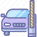 barrier, car, open icon