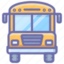 bus, school, transport icon