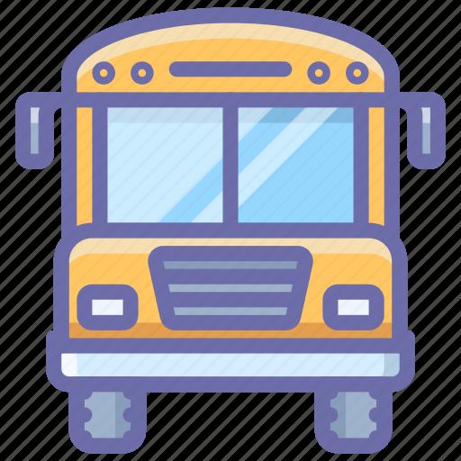 bus, school, transport icon
