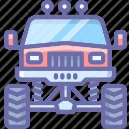 monster, transport, truck icon