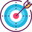 arrow, business, darts, goal, mission, success, target icon