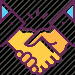 business, hands, handshake, partner, partnership, taemwork, team icon