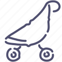 baby, buggy, stroller icon