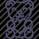 bear, love, present icon