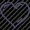 heart, like, love, valentines icon