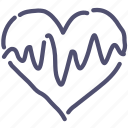 cardiogram, heart, medical, pulse icon