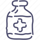 antidote, bottle, medical, tablets icon