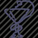 doctor, medical, medicine, snake icon