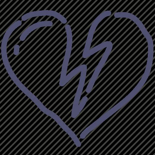 attack, heart, infarct, love icon
