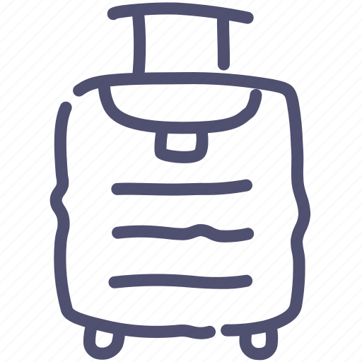 baggage, luggage, travel, trolley icon
