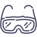 equipment, glasses, lab, protective icon