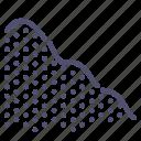 analytics, descent, graph, mountain icon