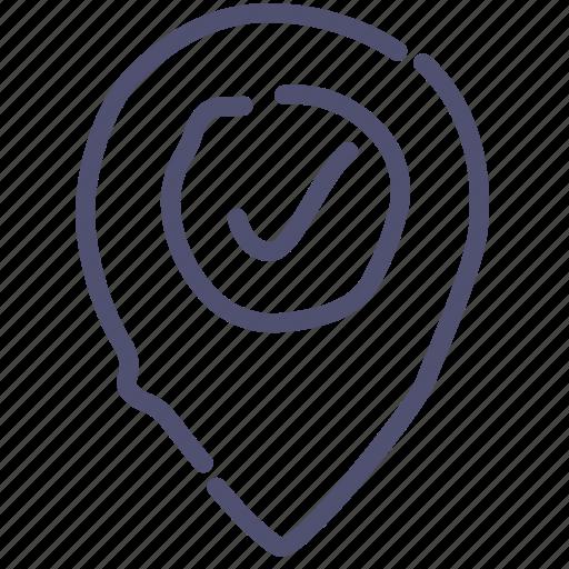 checkin, marker, pin, pointer icon