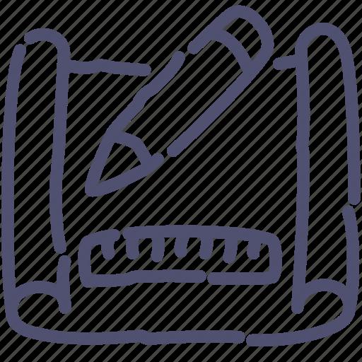 create, drawing, edit, scheme icon