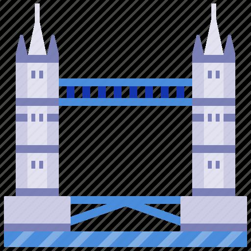 bridge, england, landmark, london, tourism, tower bridge, uk icon