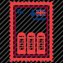 cabin, england, kingdom, london, phone, stamp, united icon
