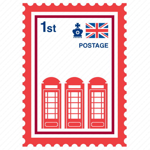 cabin, england, kingdom, london, phone, stamp, united icon