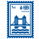 bridge, british, england, kingdom, london, stamp, united icon