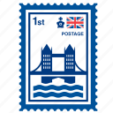 bridge, england, english, kingdom, london, stamp, united icon
