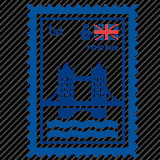 bridge, england, english, kingdom, london, stamp, united icon