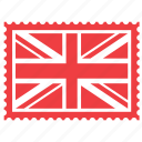 british, england, flag, kingdom, london, stamp, united icon