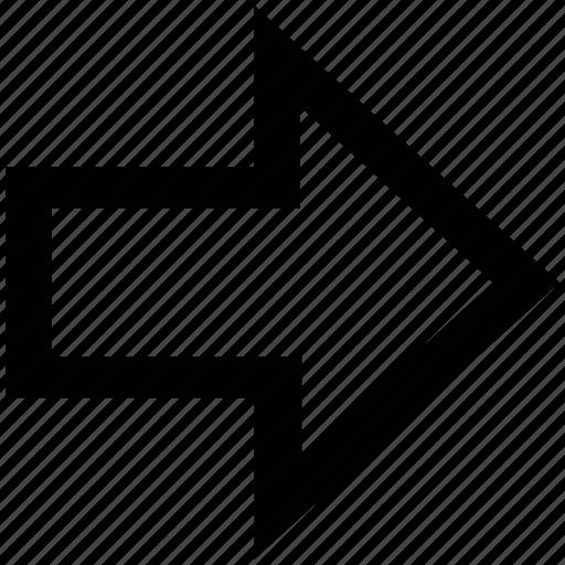 arrow, arrow right, direction, next, right icon