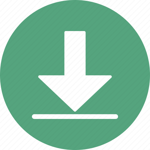 arrow, download, save icon