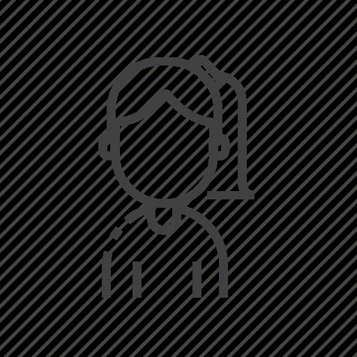 avatar, female, user icon
