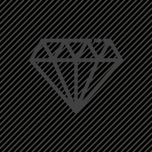 diamond, gem, jewelry, premium, quality icon