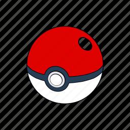 ball, cinema, film, movie, pokeball, pokemon, red icon
