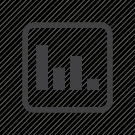 bar, graph, poll icon