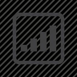 bar, chart, signal icon