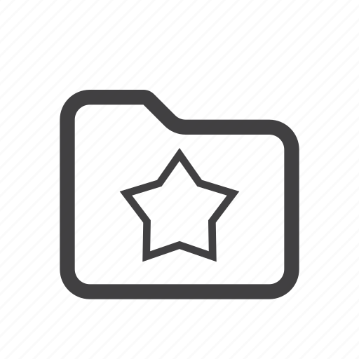 favorite, folder, star icon